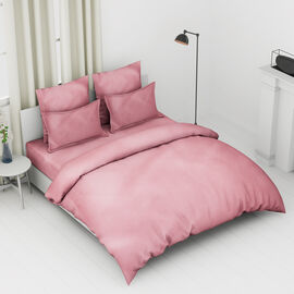 4 Piece Set - 100% Cotton Duvet Cover, 2 Pillow Case with Button Closure and Fitted Sheet (Size King