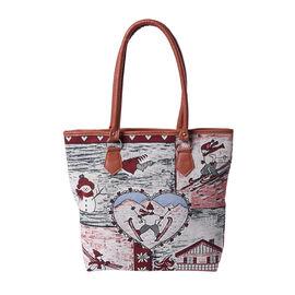 Close Out Deal Jute Tote Bag (Size 42/32x10.5x35cm) - Multi Colour