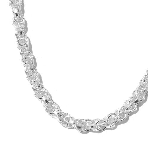One Time Close Out Deal- Sterling Silver Prince Of Wales Necklace (Size 18 and 2 inch Extender), Silver wt 42.80 Gms.