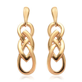14K Gold Overlay Sterling Silver Knot Earrings (with Push Back)