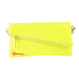 FIORUCCI Wristlet Pouch with Removable Shoulder Strap (Size 22x12 Cm) - Neon Yellow