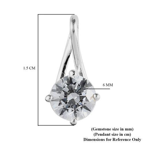 J francis Sterling Silver Pendant Made with SWAROVSKI ZIRCONIA 1.44 Ct.