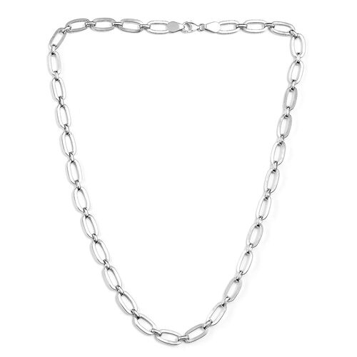 Vicenza Collection Link Necklace in Sterling Silver 24 Inch