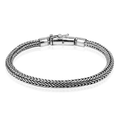 Royal Bali Collection Sterling Silver Tulang Naga Bracelet (Size 8), Silver wt 31.75 Gms.