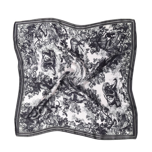 LA MAREY Pure 100% Mulberry Silk Scarf in Safari Print ( LAST CHANCE TO BUY )