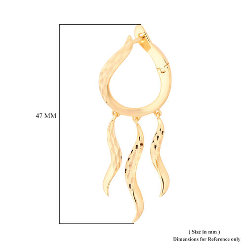 LucyQ - Yellow Gold Overlay Sterling Silver Earrings (with Clasp)