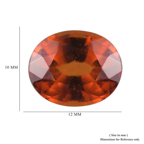 AAA Hessonite Garnet Oval 12x10 Faceted 6.20 Cts