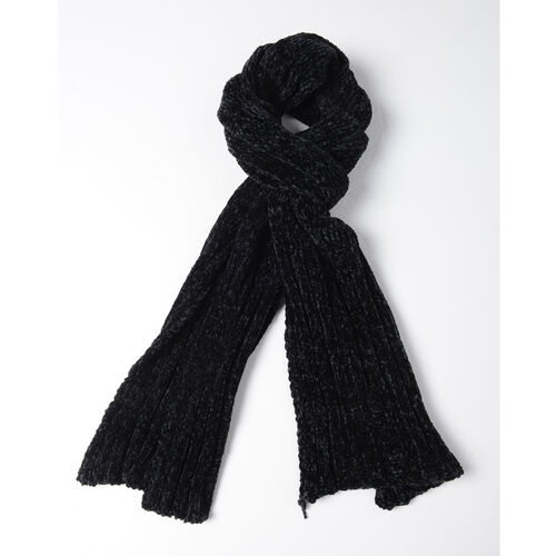 Black Colour Scarf (Size 202x30 Cm)