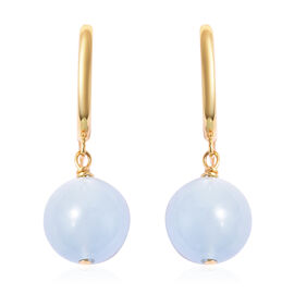 Santa Teresa Aquamarine Earrings (with Clasp) in Yellow Gold Overlay Sterling Silver 19.50 Ct.