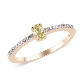 Diamond 9K Y Gold Ring  0.330  Ct.