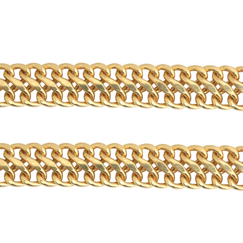 JCK Vegas Collection Double Curb Chain in 9K Yellow Gold 20 Inch