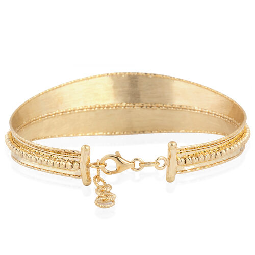 Italian Made - 9K Yellow Gold Bangle (Size 7 and 1 Inch Extender), Gold Wt. 9.82 Gms