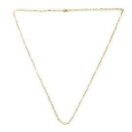 One Time Deal - 9K Yellow Gold Figaro Necklace (Size 18).Gold Wt 1.90 Gms