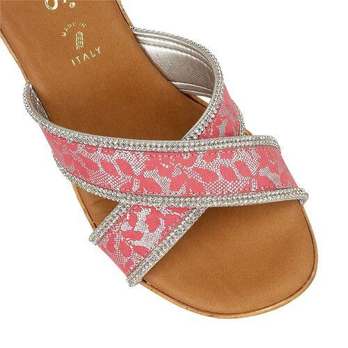 Lotus Perla Mule Wedge Sandals (Size 4) - Pink