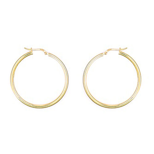 Hatton Garden Close Out  9K Yellow Gold Hoop Earrings (with Clasp Lock), Gold wt 4.17 Gms