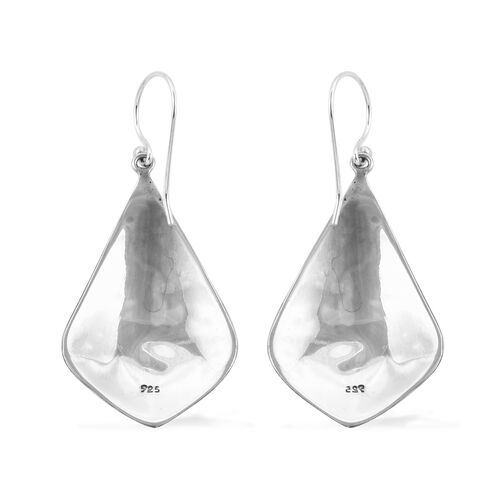 Royal Bali Collection Sterling Silver Hammered Texture Hook Earrings Silver Wt 6.00 Grams