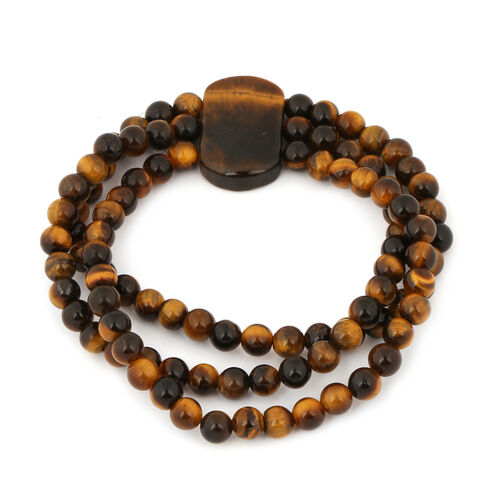 Yellow Tigers Eye Stretchable Bracelet (Size 8.5) 166.00 Ct