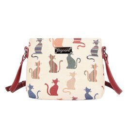 SIGNARE - Tapestry Collection - Cheeky Cat Cross Body Bag ( 28 x 18 x 8 Cms)