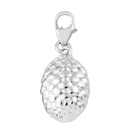 Platinum Overlay Sterling Silver Charm