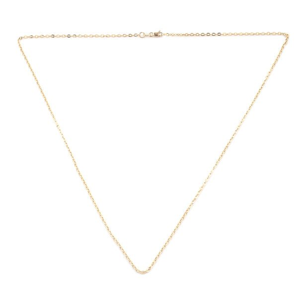 Close Out Deal- 9K Yellow Gold Fancy Belcher Necklace (Size 20) with Lobster Lock.