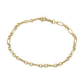 Italian Made - 9K Yellow Gold Figaro Bracelet (Size 7.5)