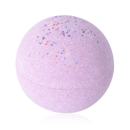 One Time Deal- Lavender Scent 3 Pink Bath Bombs and 1 Hand made Soap Flower with Gift Box (Size 16.1x12.8x7.7 Cm)