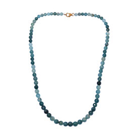 Extremely Rare Grandidierite 18 Inch Beads Necklace in 14K Gold 135 Carat
