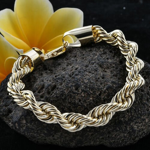 Close Out Deal- 9K Yellow Gold Classic Rope Bracelet (Size 8), Gold wt 17.86 Gms.