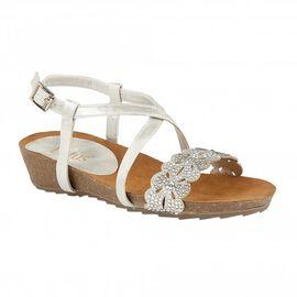 Lotus Silver Glitz Sienna Wedge Sandals