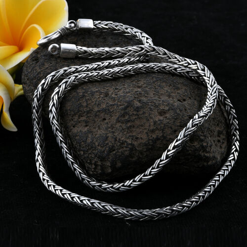Royal Bali Collection Sterling Silver Necklace (Size 20), Silver wt 29.82 Gms.