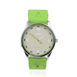 KYBOE Evolve Japanese Movement 100M Water Resistant Greenery LED Watch in Stainless Steel and Green