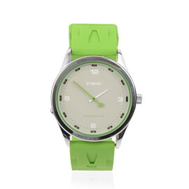 KYBOE Japanese Movement 100M Water Resistant Greenery LED Watch in Stainless Steel and Green Strap