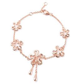LucyQ Splash Collection - Rose Gold Overlay Sterling Silver Bracelet (Size 7 / 7.5 / 8)