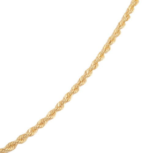 JCK Vegas Collection 9K Yellow Gold Rope Necklace (Size 20), Gold wt 1.83 Gms.