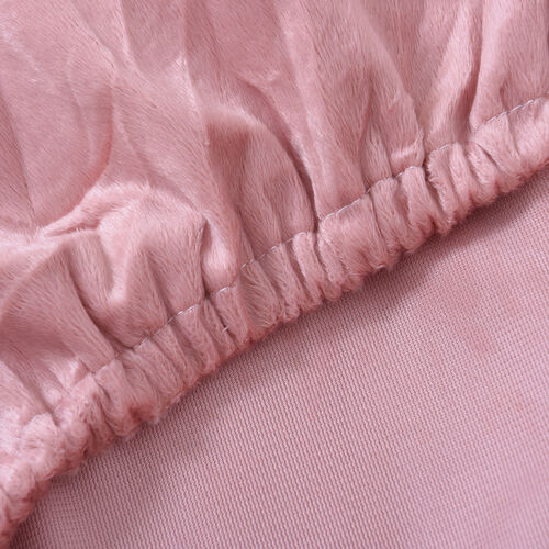 Serenity Night Dusky Pink Fitted Sheet (Size 150x200+30cm) - KING