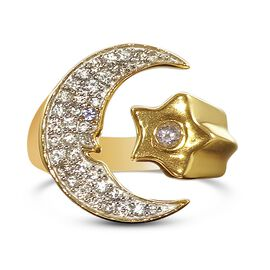 GP Celestial Dream Collection - Natural Cambodian Zircon, Tanzanite and Blue Sapphire Ring in 14K Go