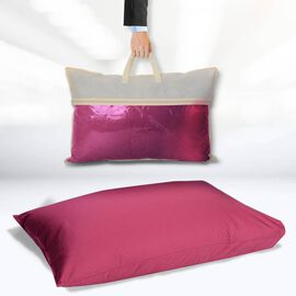Serenity Night - Mulberry Silk Pillow (75x50cm) - Magenta