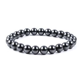 Hematite (Rnd) Stretchable Bracelet (Size 7) 165.00 Ct.