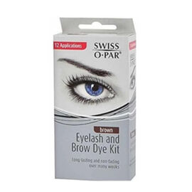 Swiss-O-Par: Eyelash & Eyebrow Dye Kit - Brown