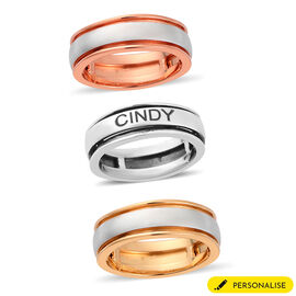 Personalised Engrave Name Spinner Ring in Silver