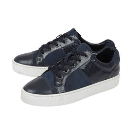 Lotus Stressless Navy Leather Sherlyn Casual Trainers