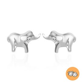 Children Elephant Earrings in Sterling Silver