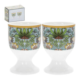 Lesser and Pavey - William Morris Strawberry Thief Teal Egg Cups - Set of 2