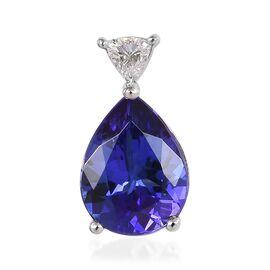RHAPSODY 950 Platinum AAAA Tanzanite and Diamond (VS/E-F) Pendant 1.85 Ct.