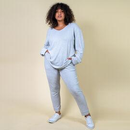 TAMSY Womens Slim Joggers (Size - 10) - Light Grey