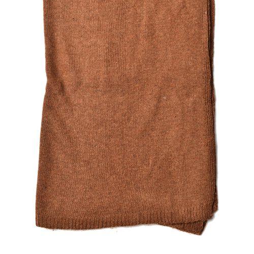 Tan Colour Scarf (Size 210x60 Cm)