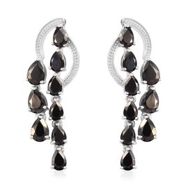 3.25 Ct Elite Shungite Dangle Earring in Platinum Plated Silver
