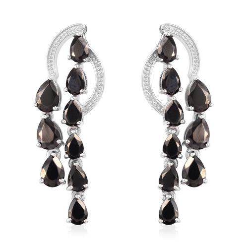3.25 Ct Elite Shungite Dangle Earring in Platinum Plated Silver