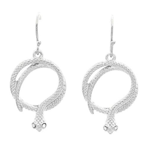 Viale Argento Serpent Hook Earrings in Sterling Silver