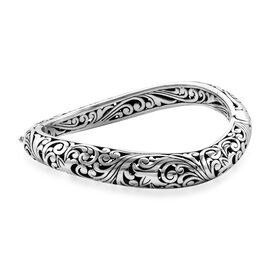 Royal Bali 7.25 Inch Filigree Bangle in Sterling Silver 35.50 Grams